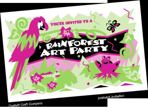 Invitation To Party with adorable invitation design